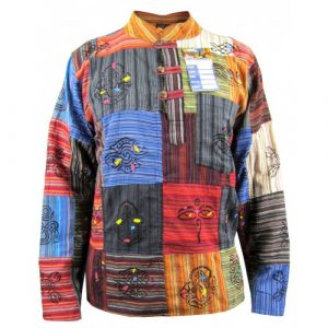Patchwork Non Stonewashed Grandad Shirt