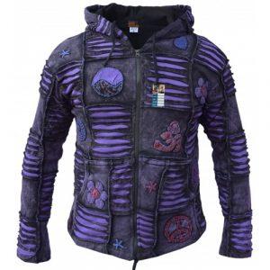 OM Purple Mens Ribs Hoody